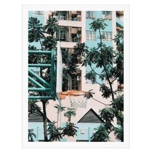 Paper Collective Cities Of Basketball 01 Hong Kong Juliste