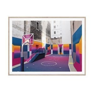 Paper Collective Cities Of Basketball 08 Paris Juliste 30x40 Cm