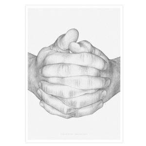 Paper Collective Folded Hands Juliste 30x40 Cm