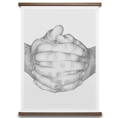 Paper Collective Folded Hands Juliste 50x70 cm