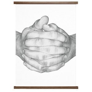Paper Collective Folded Hands Juliste White