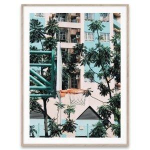 Paper Collective Juliste Cities Of Basketball 01 Hong Kong 30x40 Cm