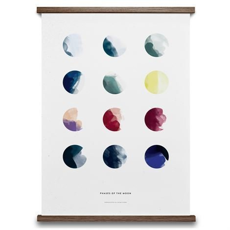 Paper Collective Moon Phases Juliste 50x70 cm