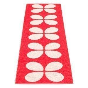 Pappelina Aki Matto Coral Red / Vanilla 70x240 Cm