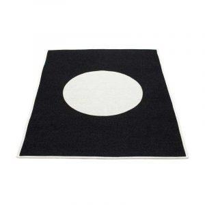 Pappelina Vera Huopa Black / Vanilla 140x180 Cm