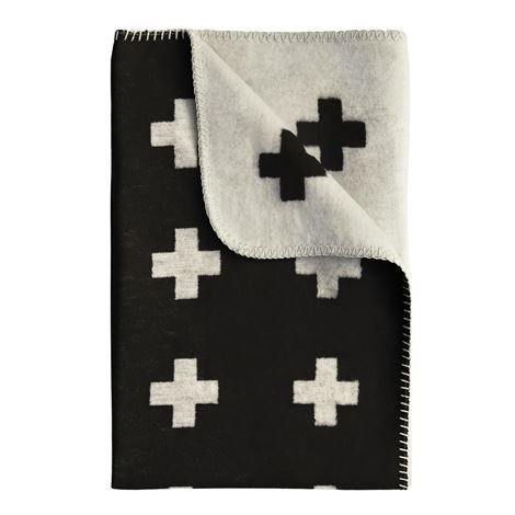 Pia Wallén Cross Blanket Huopa Iso Musta