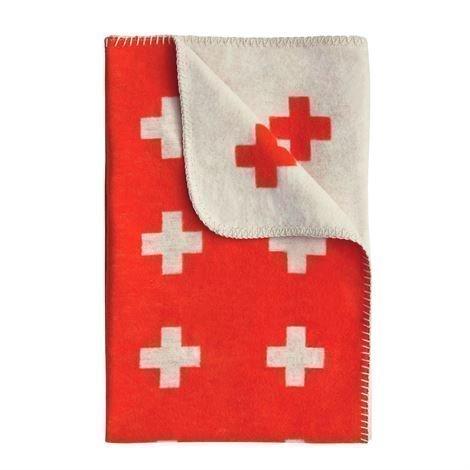 Pia Wallén Cross Blanket Huopa Iso Punainen-Oranssi