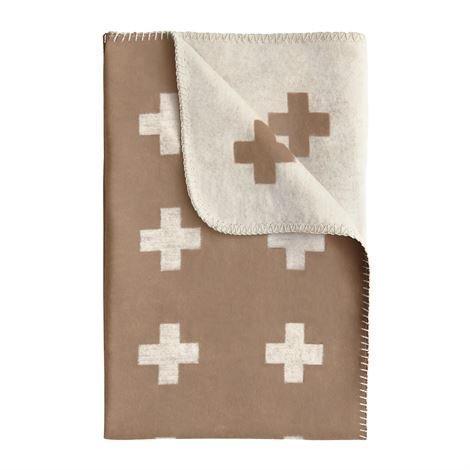 Pia Wallén Cross Blanket Huopa Pieni Kamel