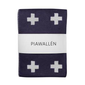 Pia Wallén Cross Pledd Sininen 75x125 Cm