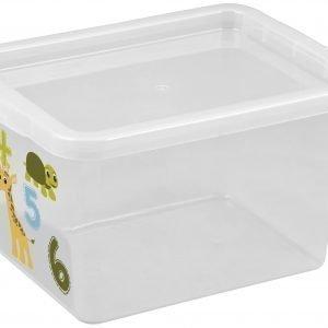 Plast Team Basic Box Animals Säilytyslaatikko Väritön