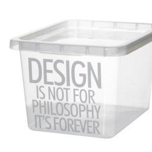 Plast Team Basic Box Iml Quotes Säilytyslaatikko Väritön