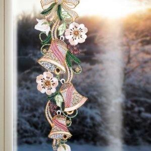 Plauener Spitze Ikkunakoriste Joulun Kellot Munakoiso