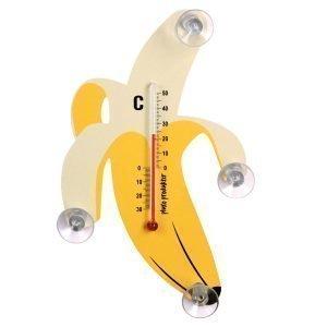 Pluto Lämpömittari Banaani Musta