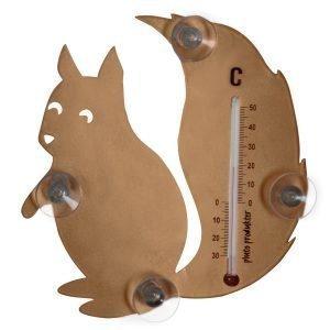 Pluto Lämpömittari Orava Ruskea