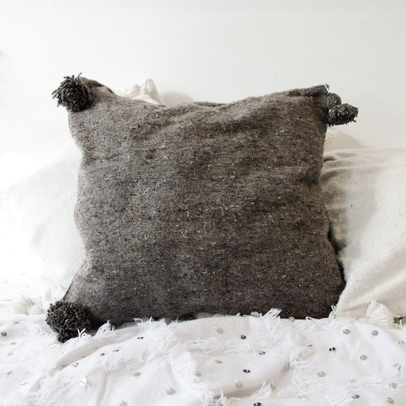 Pompom Tyynynpäällinen Tummanharmaa 60x60 Cm