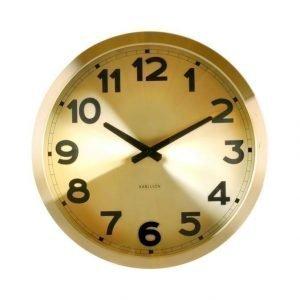 Present Time Gold Station Seinäkello