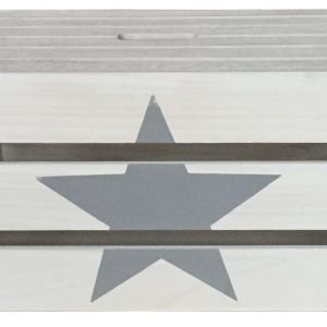 Puulaatikko Tähtikuviolla Valkoinen