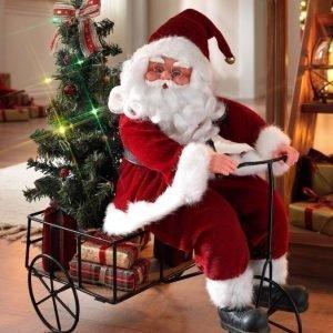 Pyöräilevä Joulupukki Monivärinen