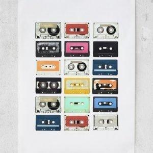 Rebel Walls Mixed Tape Juliste 50x70 Cm