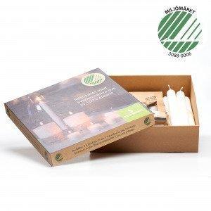 Refilljus Presentpaket Kynttilä Valkoinen 26x25 Cm