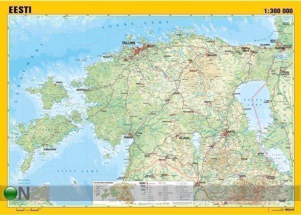 Regio Seinäkartta Regio Viro 136x96 Cm