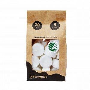 Reluminus Steariinikynttilät Täyttöpakkaus Valkoinen 4x4 Cm