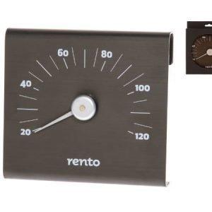 Rento saunan lämpömittari tervanruskea