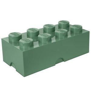 Room Copenhagen Lego Säilytyslaatikko 8 Hiekanvihreä