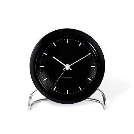Rosendahl Arne Jacobsen Station pöytäkello mustavalkoinen ø 11 cm