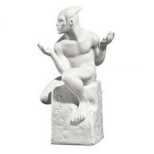 Royal Copenhagen Male Zodiacs Kaksoset Valkoinen