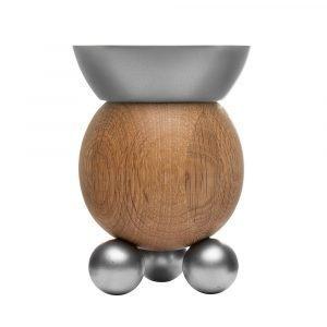 Sagaform Oval Oak Kynttilänjalka Tammi / Alumiini