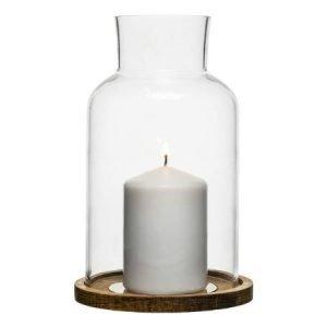 Sagaform Oval Oak kynttilälyhty keskikoko