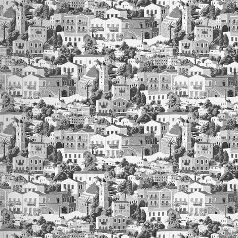 Sandberg Wallpaper Dodecanese Valokuvatapetti Tummanharmaa