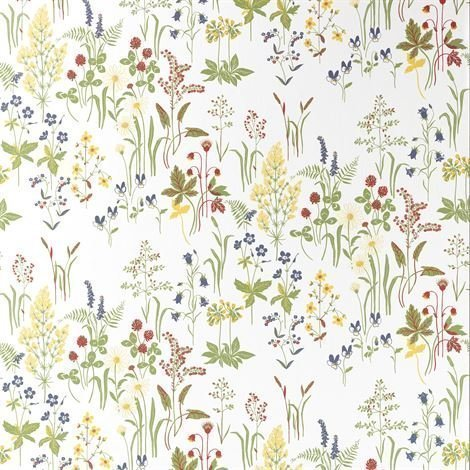 Sandberg Wallpaper Flora Tapetti Valkoinen Valkoinen