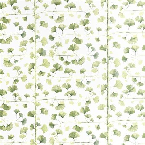 Sandberg Wallpaper Ginkgo Tapetti Tummanvihreä