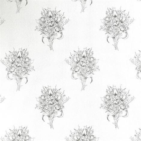 Sandberg Wallpaper Gudrun Tapetti Vaaleanharmaa