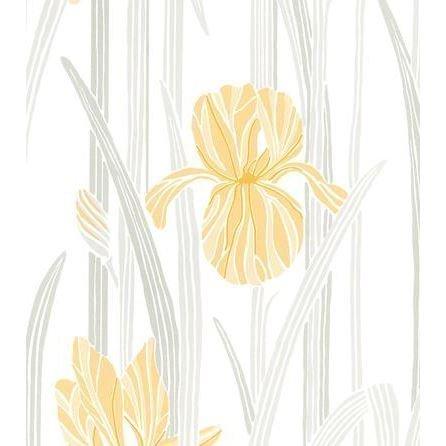 Sandberg Wallpaper Iris Tapetti Keltainen