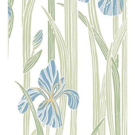 Sandberg Wallpaper Iris Tapetti Sininen