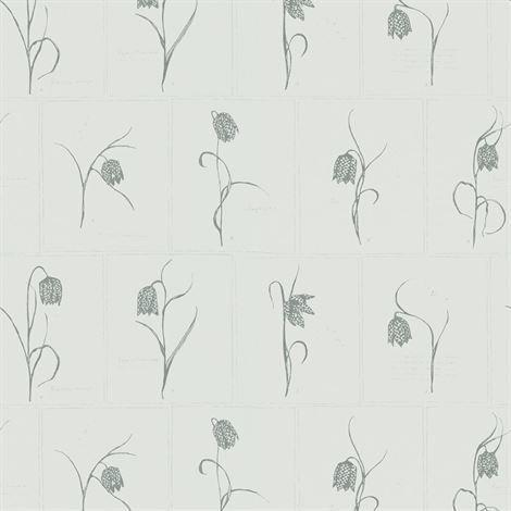 Sandberg Wallpaper Lilja Tapetti Vaaleanharmaa