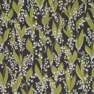 Sandberg Wallpaper Lily Of The Valley Tapetti Musta