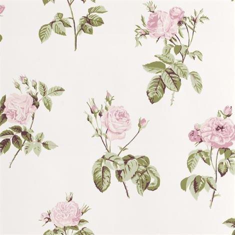 Sandberg Wallpaper Vaaleanpunainennna Tapetti Valkoinen
