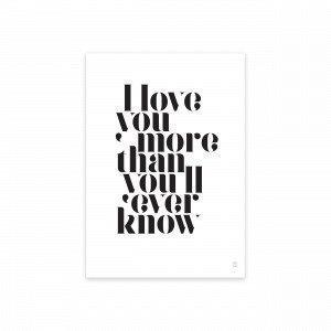 Sb Studio I Lover You More Juliste 30x42 Cm