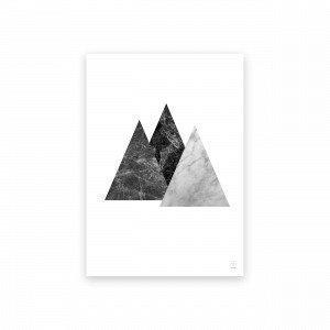 Sb Studio Marble Marvel 03 Triangle Juliste 42x30 Cm