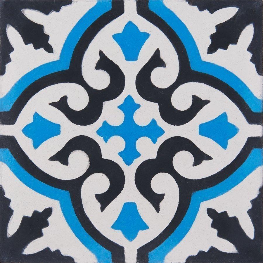 Sementtilaatta Marrakech Sininen