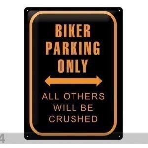 Sg Retrotyylinen Metallijuliste Biker Parking Only 30x40 Cm