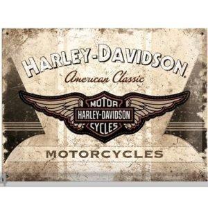 Sg Retrotyylinen Metallijuliste Harley-Davidson Motorcycles 30x40 Cm