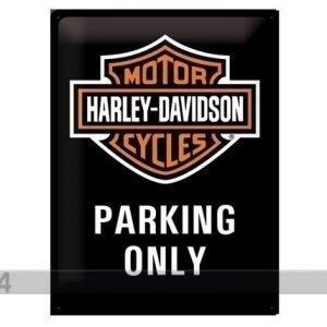 Sg Retrotyylinen Metallijuliste Harley-Davidson Parking Only 30x40 Cm