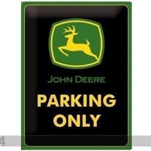 Sg Retrotyylinen Metallijuliste John Deere Parking Only 30x40 Cm