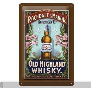 Sg Retrotyylinen Metallijuliste Old Higland Whiskey 20x30 Cm
