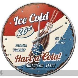 Sg Retrotyylinen Seinäkello Ice Cold